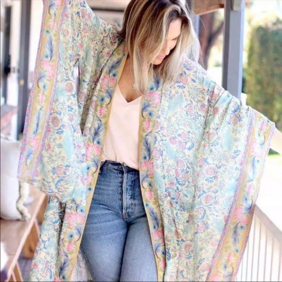 💗 Luxe Bohemian Gypsy Print Kimono Wrap Coverup